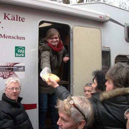 Unterwegs mit dem Verein zur Unterstützung von Menschen ohne Wohnung