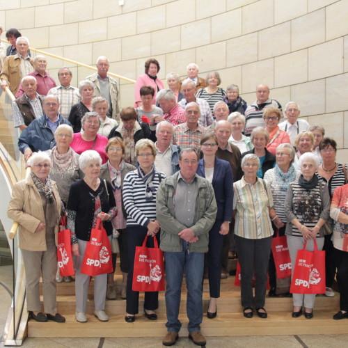 EVG-Senioren zu Besuch im Landtag NRW
