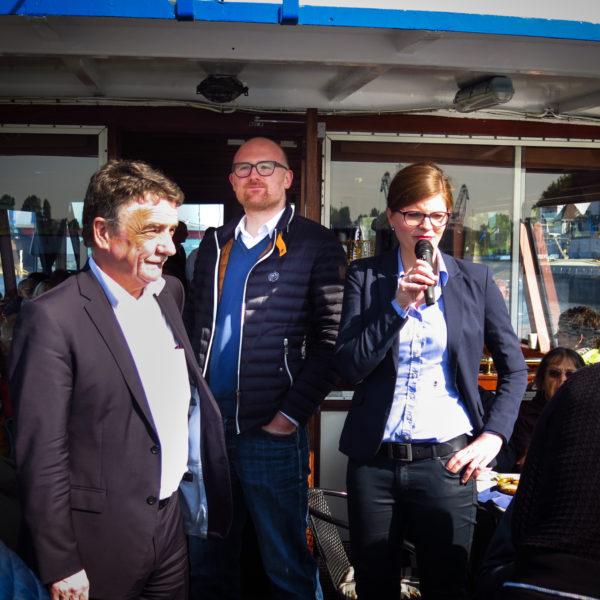 AnsprechBar: Hafenrundfahrt mit NRW-Verkehrsminister Michael Groschek und Duisburgs OB Sören Link