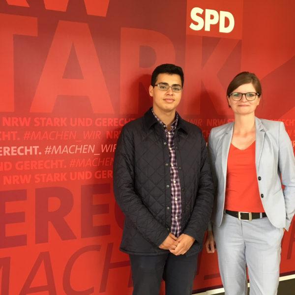 Jugendlandtag 2018 – Duisburger Schüler erhält Einblicke in die Landespolitik und vertritt Sarah Philipp