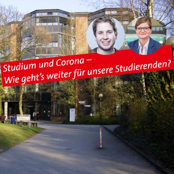"""Webinar """"Studium und Corona – Wie geht's weiter für unsere Studierenden?"""""""