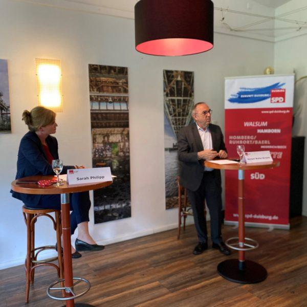 SPD-Chef Norbert Walter-Borjans zu Besuch in Duisburg