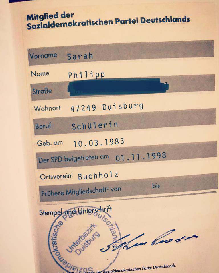 Sarah Philipp SPD Duisburg Parteibuch